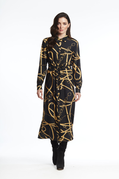 Chain&Rope Print Dress Duster