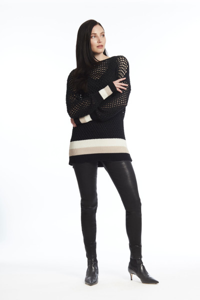 Knit with Stripe Banded Detail