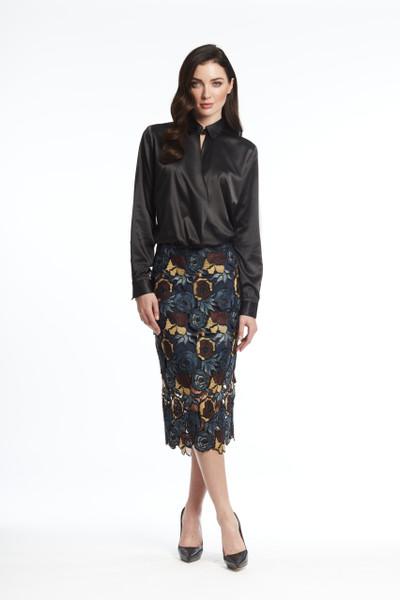 Multi floral lack skirt