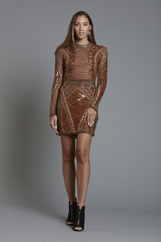 Sequin Engineered Short Dress (SKU185)