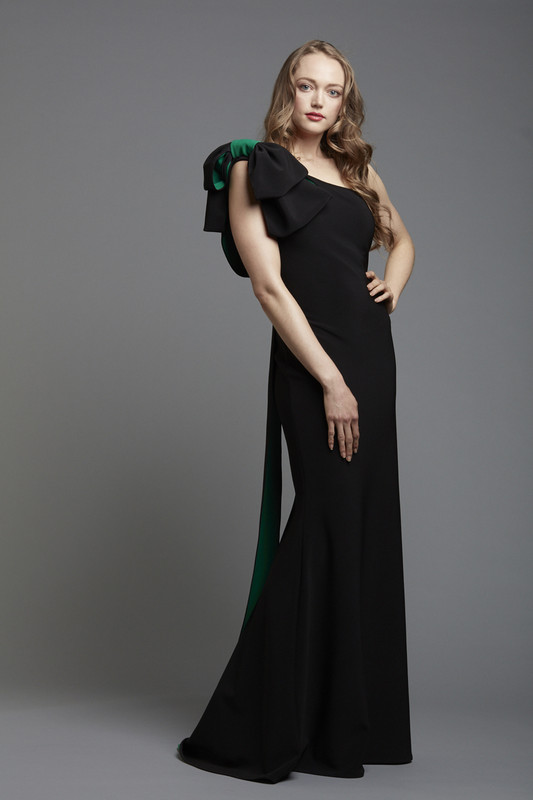 Double Face Crepe One Shoulder Gown (SKU1812)