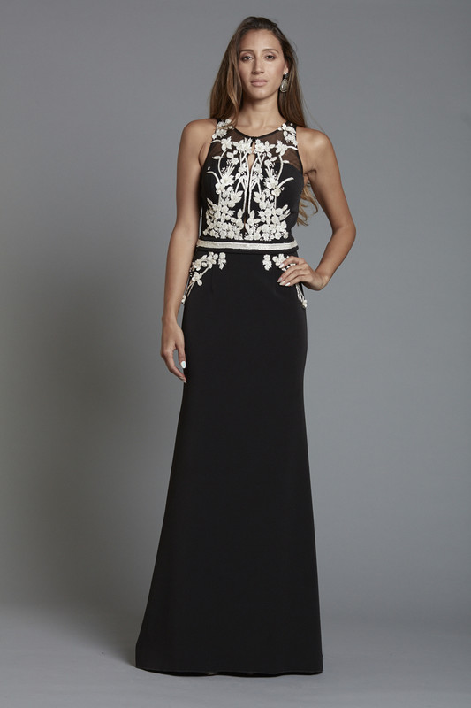 3D Floral Beaded Gown (SKU1861)