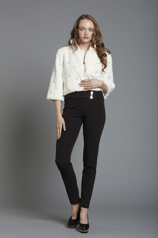 Gold  Buckle Slim  Pant (SKU2627)