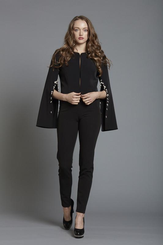 Pearl Slit Sleeve Crepe Jacket (SKU1871)