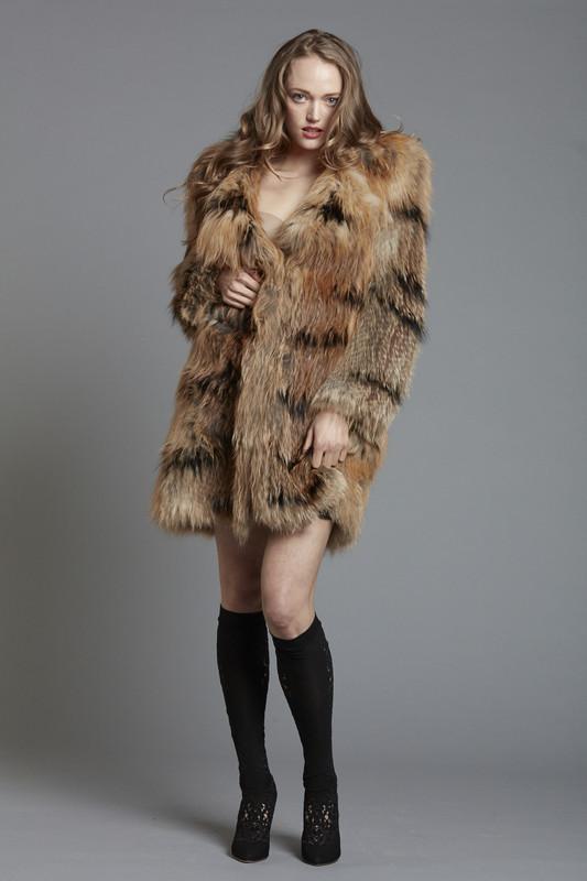 Red Fox Fur Coat (SKU572)