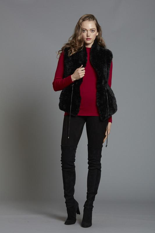 Lush Faux Fur Drawstring Vest (SKU515)
