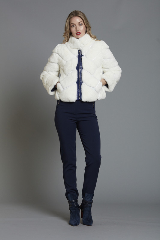 Rex Rabbit Reversible Puff Jacket (SKU579)