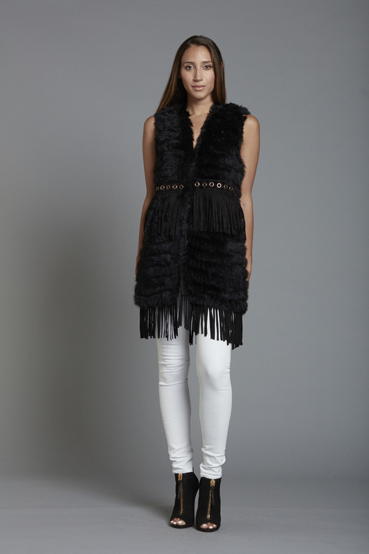 Rabbit Fringe Vest (SKU26100)