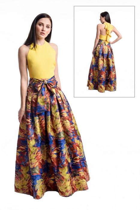Sunburst Jacquard Ball Skirt
