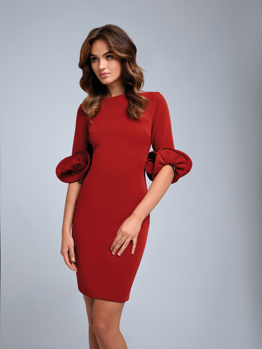 Classic dress With Ruffle Sleeves