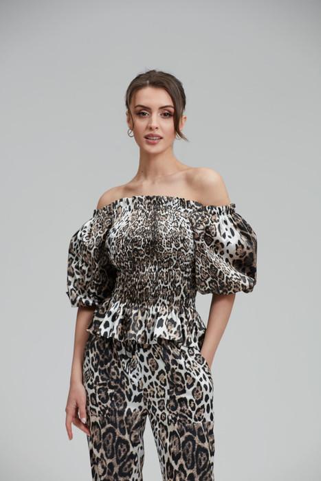 Leopard Top   Sleeve