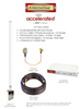 Accelerated 6350-SR LTE Router CAT 6 w/ 12dBi LTE Antenna, 75 FT Cable + Adapter - SMA Male