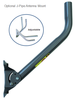Optional Adjustable J-Pipe Antenna Mount