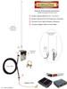 Peplink Transit-DUO - 12dBi Omni Directional Fiberglass 4G 5G LTE XLTE Antenna Kit w/ Cable Length Options