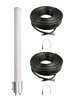 M39 Omni Directional MIMO 2 x Cellular 4G LTE CBRS 5G NR M2M IoT Antenna w/Coax Cable Kit Options for T-Mobile 5G Internet Gateway