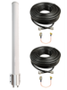 M39 MIMO 2 x Cellular 4G LTE CBRS 5G NR M2M IoT Bracket Mount Antenna w/Coax Cable Kit Options