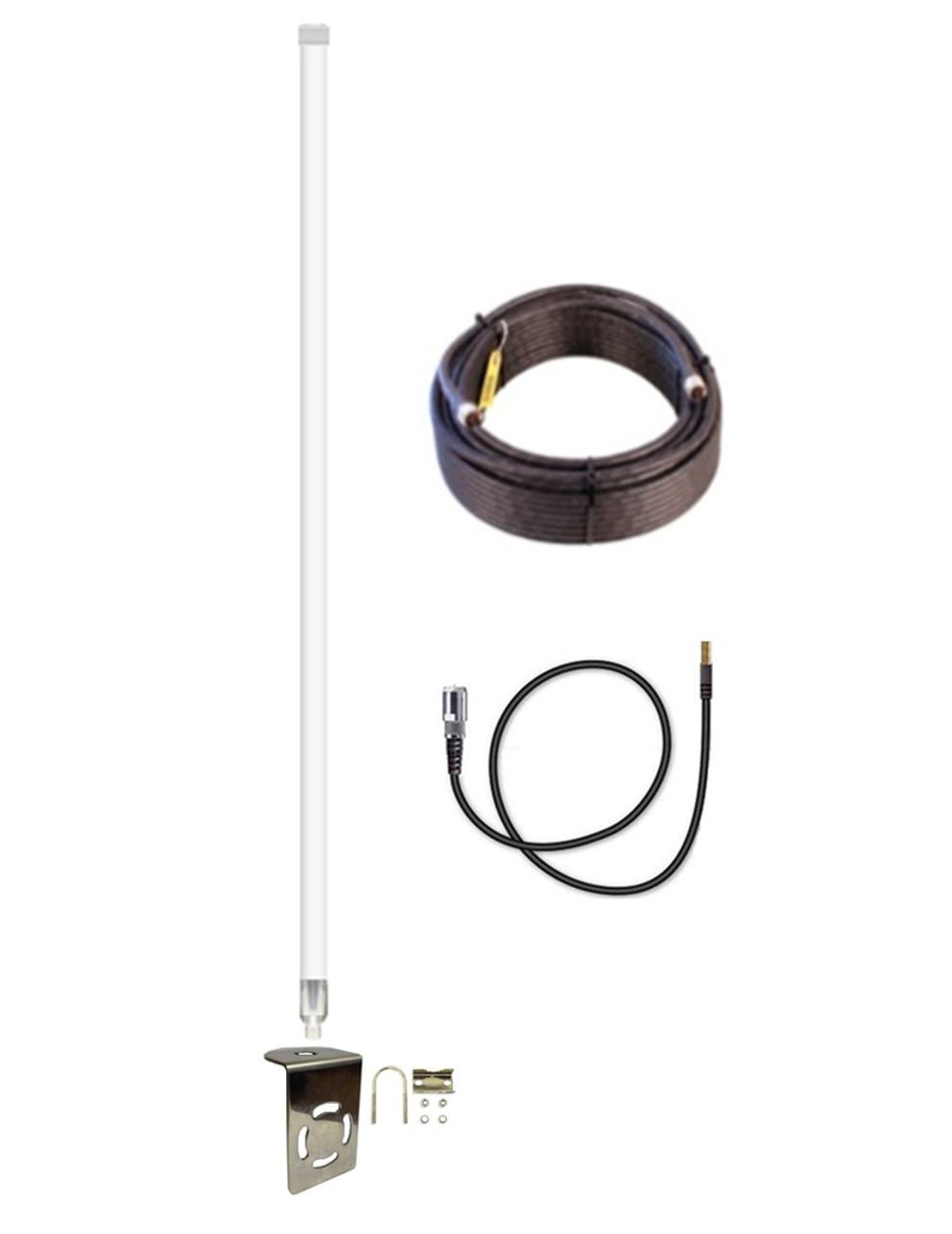 12dB Fiberglass 4G 5G LTE XLTE Antenna Kit AT&T ZTE Velocity 2 MF985 Mobile Hotspot w/ Cable Length Options