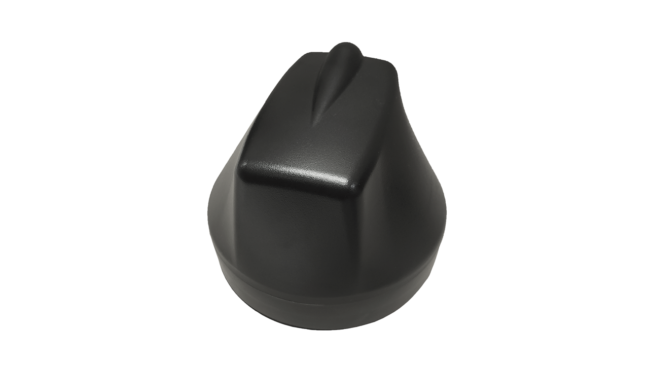 M690 9-Lead Antenna (Black) - Front Top View