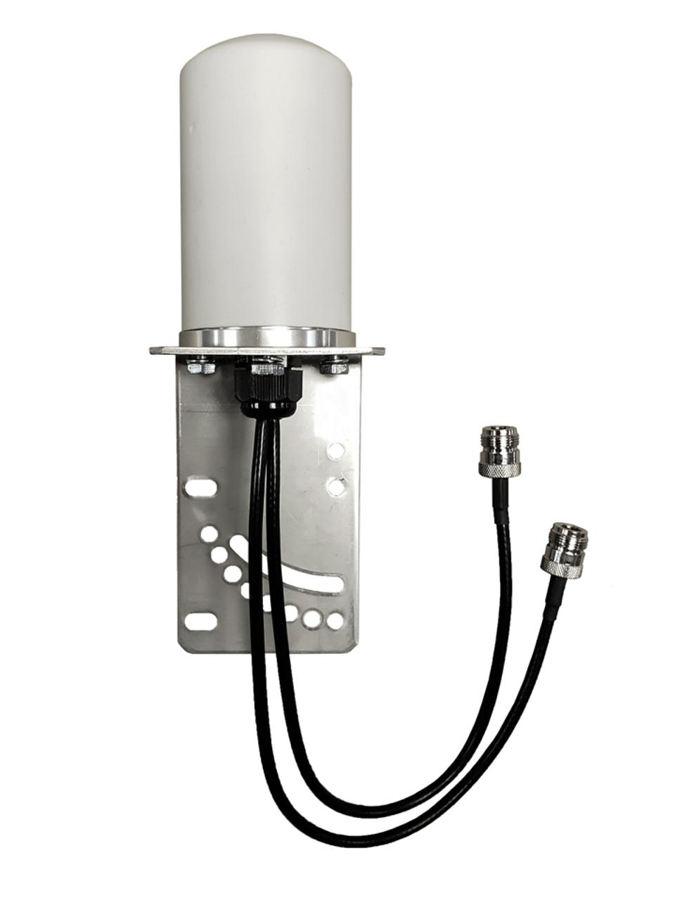 M17B MIMO Omni Directional 2 x Cellular 4G LTE 5G NR IoT M2M Bracket Mount Antenna