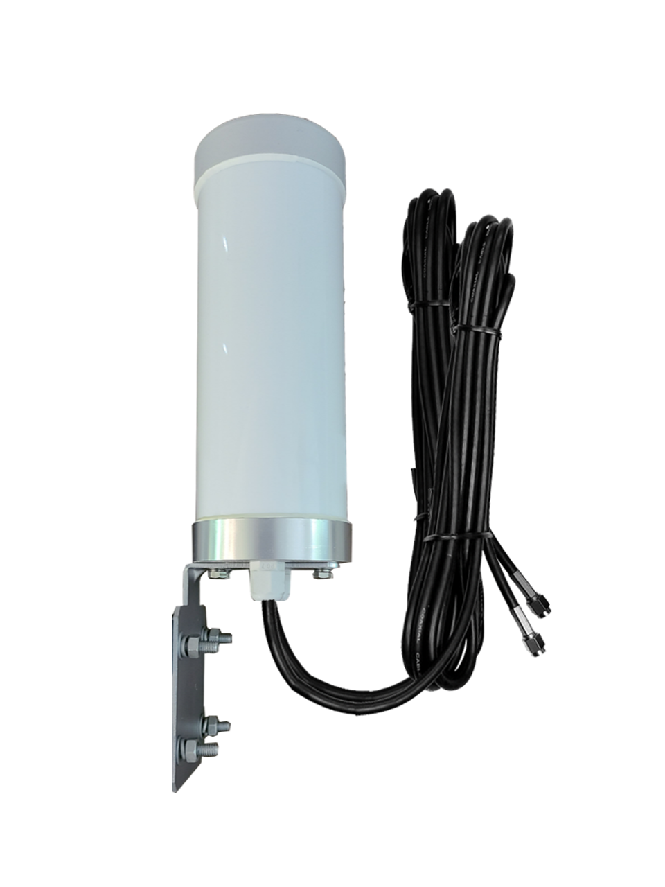M29T T-Mobile (Band 71 Optimized) MIMO 2 x Cellular 4G LTE CBRS 5G NR M2M IoT Bracket Mount Antenna w/2 x 16ft Coax Cables - SMA Male
