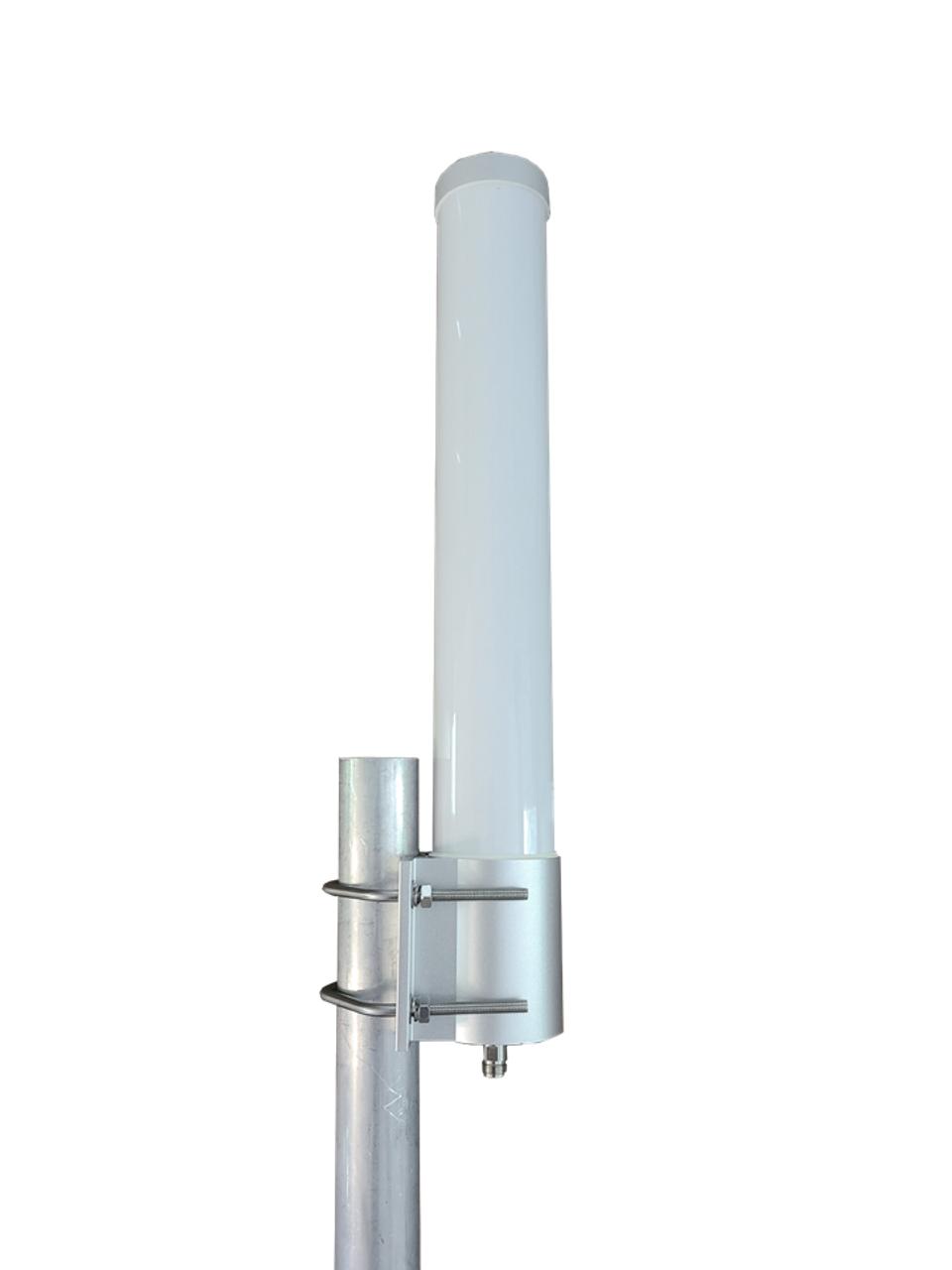 M25T T-Mobile Omni Directional Fiberglass Cellular 4G LTE 5G NR Band 71 External Data M2M IoT Antenna - Pole Mount (Bracket Mount Hardware Included)
