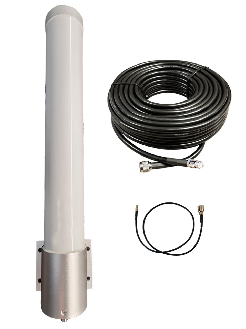M25 Omni Directional 4G LTE CBRS 5G NR M2M IOT Antenna w/Coax Cable Kit Options for Verizon Novatel Jetpack MiFi 7730L
