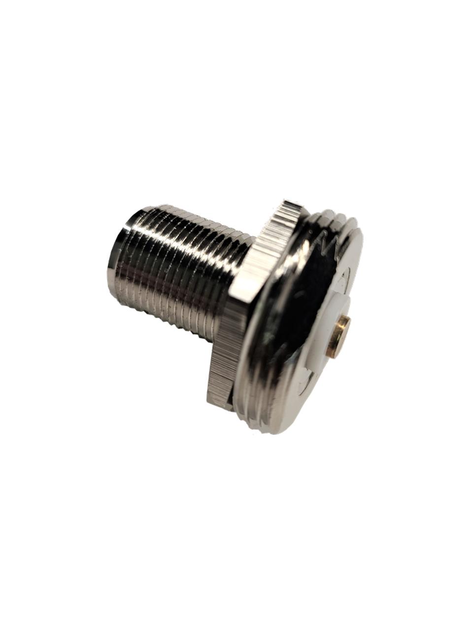 Barrel Adapter NMO Male to N Female - Bulkhead Mount - Side Profile
