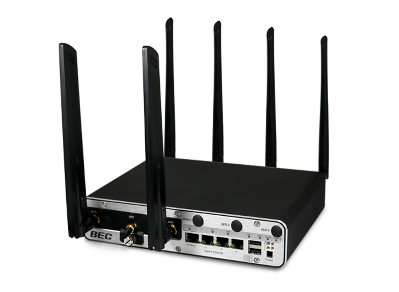 BEC MX-1200 Gateway w/ Antenna Bundle - 1 Year Included BECentral Cloud Management - 1 Year Warranty Included w/ Optional MX-100U-R15 Modem w/Antennas