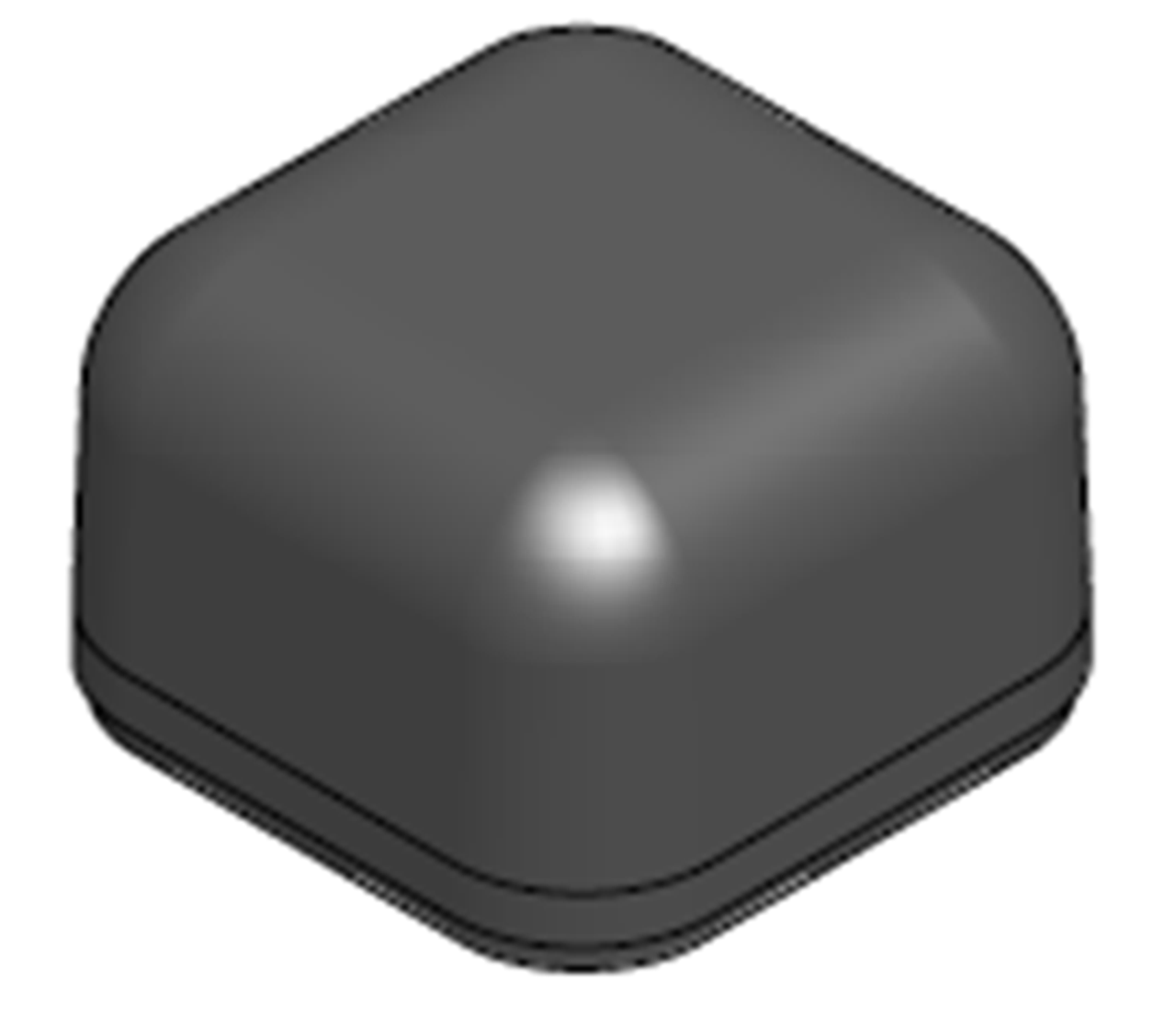 M400 Low Profile Series Antenna - Side Top View