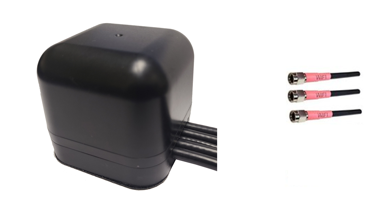 M430M Low Profile Series 3-Lead Mobility MIMO 3 x Dual Band WiFi Magnetic Mount Antenna w/15ft Coax Cables
