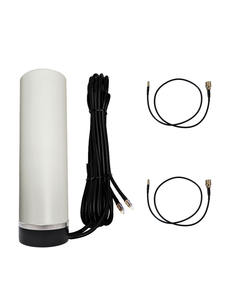 M19M Omni Directional MIMO 2 x Cellular 4G LTE GPRS 5G NR IoT M2M Magnetic Mount Antenna w/2 x 16ft Coax Cables for Verizon Novatel Jetpack MiFi 7730L