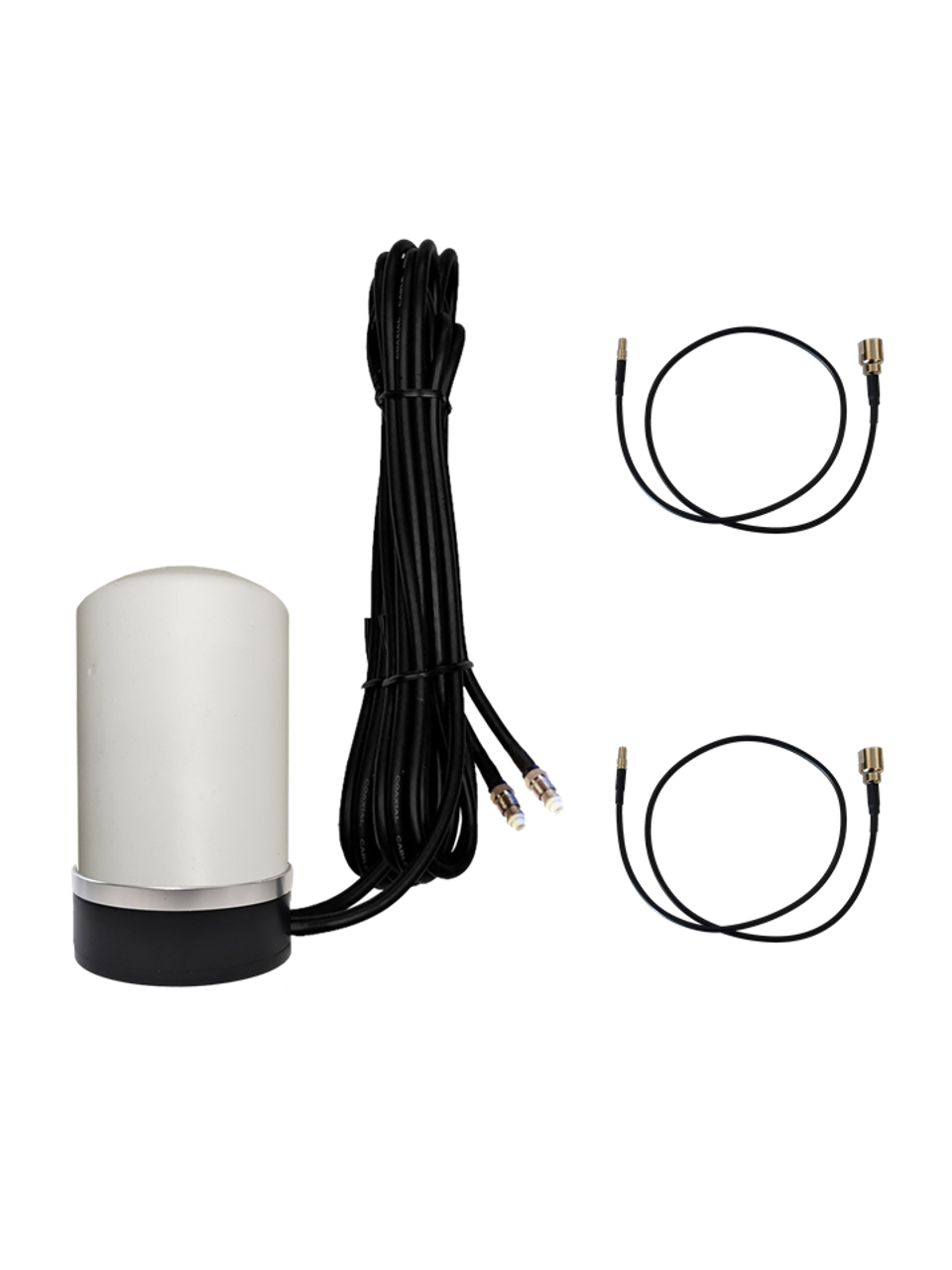 M17M Omni Directional MIMO 2 x Cellular 4G LTE CBRS 5G NR IoT M2M Magnetic Mount Antenna w/2 x 16ft Coax Cables for Verizon Novatel Jetpack MiFi 7730L