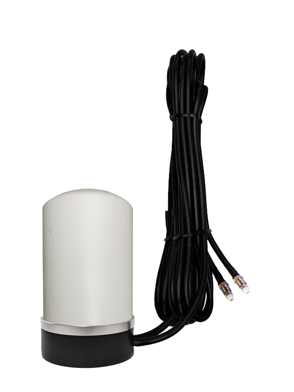M17M Omni Directional MIMO 2 x Cellular 4G LTE CBRS 5G NR IoT M2M Magnetic Mount Antenna w/2 x 16ft Coax Cables - FME Female