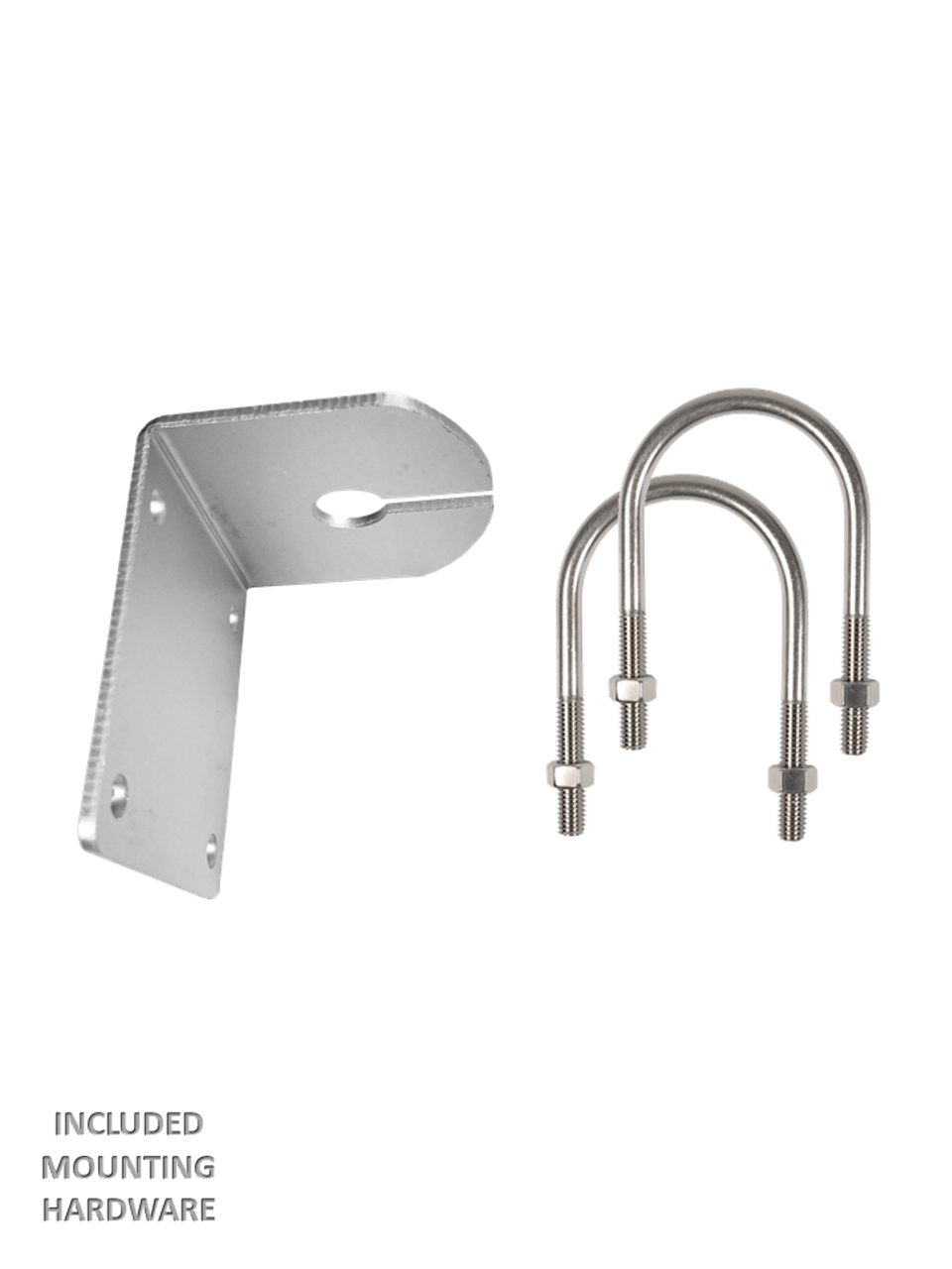 Stainless Steel L-Bracket Mount Hardware Included