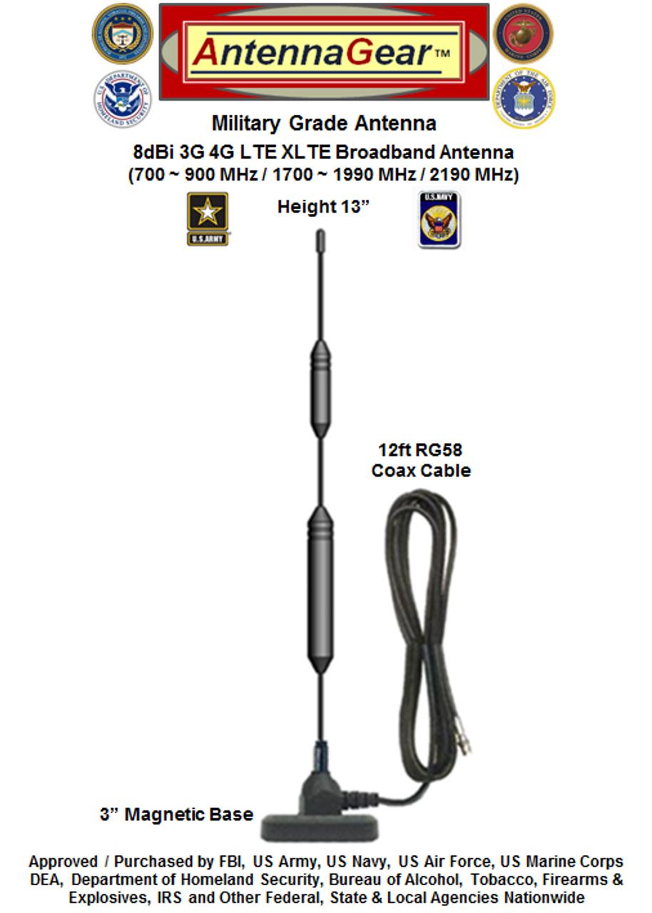 XHD 8dBi Verizon Novatel 6620L MiFi Hotspot External Antenna - Detail 2