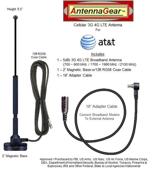 5dB AT&T Unite NETGEAR 781S AC781S LTE Hotspot External Antenna