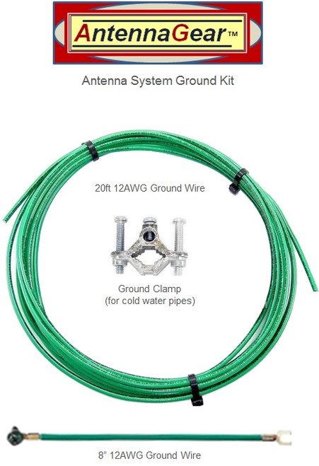 Antenna System Grounding Kit - 20FT - Detail