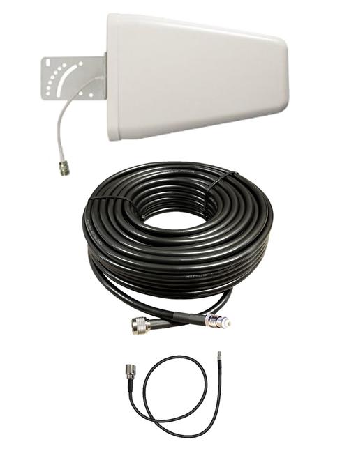 M10-YAGI 10dBi Log Periodic Directional Cellular 4G LTE CBRS 5G M2M IoT Antenna w/Coax Cable Kit Options for Verizon Novatel Jetpack MiFi 7730L