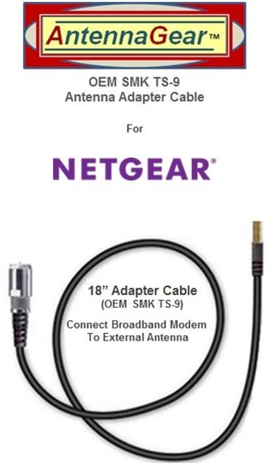 OEM SMK TS-9 AT&T Unite Express NETGEAR AC779S Hotspot External Antenna Adapter