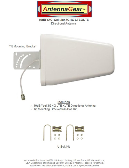 10dB Yagi 4G 5G LTE Antenna Kit For AT&T Unite Express NETGEAR AC779S Hotspot w/ Cable Length Options