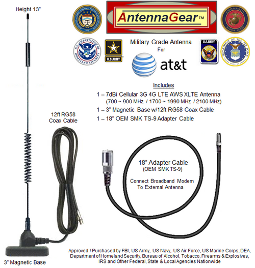 HD 7dBi AT&T Unite Express NETGEAR AC779S Hotspot External Antenna
