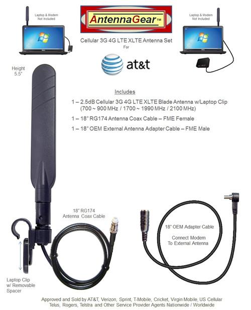 AT&T Unite Express NETGEAR AC779S Hotspot BLADE 4G Antenna w/Laptop Clip