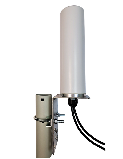 M19B MIMO Omni Directional 2 x Cellular 4G LTE GPRS 5G IoT M2M Bracket Mount Antenna - Pole Mount