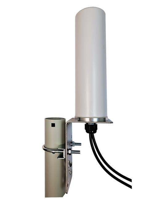 M19B MIMO Omni Directional 2 x Cellular 4G LTE GPRS 5G NR IoT M2M Bracket Mount Antenna - Pole Mount