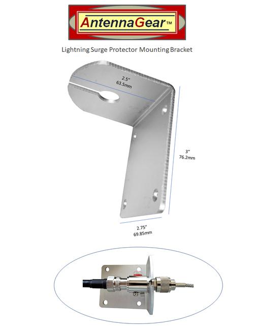 Lightning Surge Protector L-Bracket Mount - L-Bracket Detail