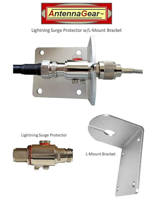 Lightning Surge Protector + L-Bracket Mount Kit - Kit