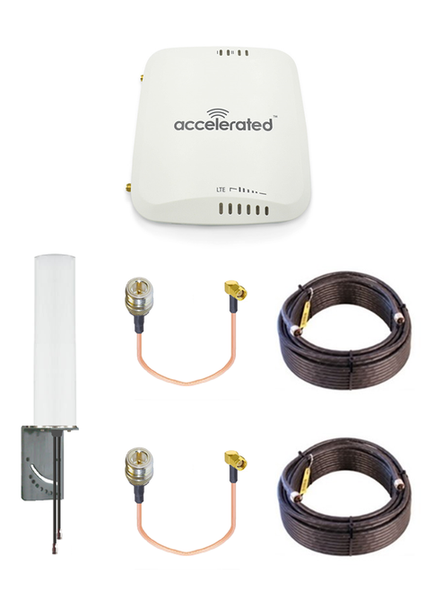 Accelerated 6310-DX LTE Router CAT 4 w/ 9dBi MIMO Antenna, 2 x 50 FT Cables + 2 x Adapters - SMA Male