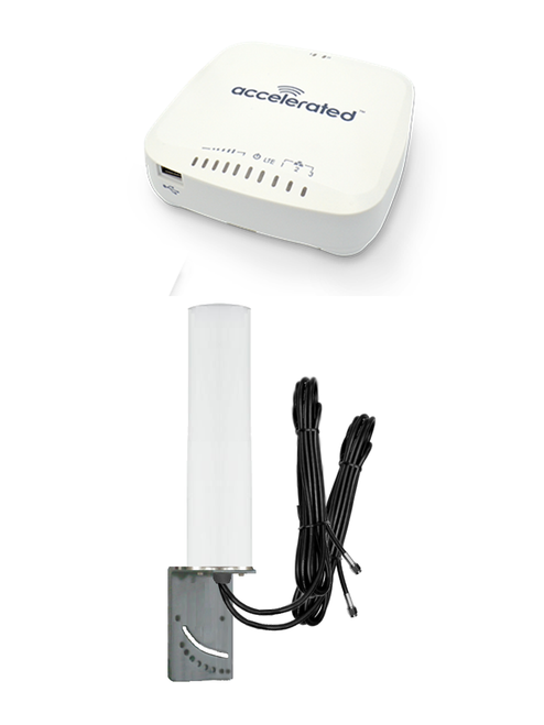 Accelerated 6335-MX LTE Router CAT 3 w/ 9dBi MIMO Antenna, 2 x 16 FT Cables - SMA Male
