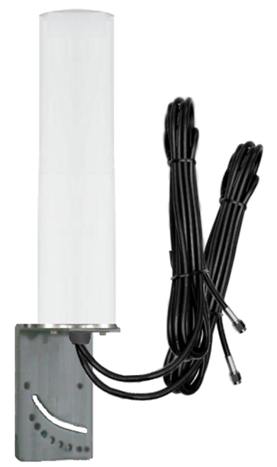 9dBi DIGI Transport WR44 Router M16 Omni Directional MIMO Cellular 4G LTE AWS XLTE M2M IoT Antenna w/16ft Coax Cables -2  x SMA