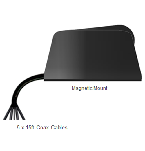 DIGI Transport WR44 Router M600 5-Lead Multi MIMO Magnetic Mount M2M IoT Mobility Antenna